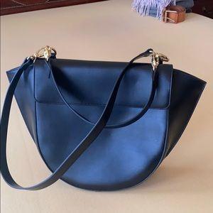 SaksFifthAvenue black structured bag
